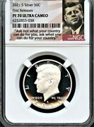 2021 S Silver 99.9 Kennedy Half Dollar First Releases Ngc Pf70 U.c.--