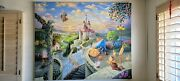 Thomas Kinkade Beauty And The Beast Falling In Love Hand Painted Disney Replica