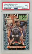 Shaquille Oand039neal 1992-93 Topps Stadium Club Beam Team Only Rookie Insert Psa 9
