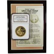 George T Morgan 100 Union Gold Medal Ultra Cameo Gem Proof High Relief Ngc