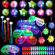 67pcs Led Light Up Toys Glow In The Dark Party Supplies Kid Adults Birthday Gift