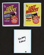 2005 Topps Wacky Packages Lost Wackys Rare Ser.1 Comp Sealed Set W/ Ovary Show