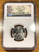 2021-p 25c Tuskegee Airmen Quarter Ngc Ms69 Early Releases