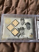 2000 Black Diamond Rookie Edition Jeter/dimaggio/mantle Game Used Bats 1 Of 25
