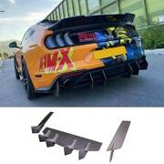 For Ford Mustang 2018-21 Competition Dry Carbon Fiber Rear Lip Diffuser Bodykit