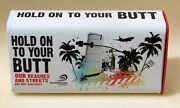Vtg Hold On To Your Butt Metal Personal Purse Ashtray Beaches Surf Rider New