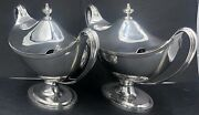 Pair Of Sterling Silver Sauce Tureens London 1968