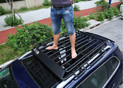 For Jeep Cherokee 2014-2021 Black Steel Top Roof Rack Luggage Carrier Rail 1pcs