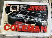 Great Vintage Coleman Compact 2 Burner Gas Stove Model 425f W/box Andinstructions