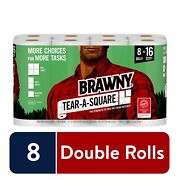Rawny Tear-a-square Paper Towels, 8 Double Rolls