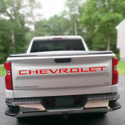 Red Tailgate Insert Letters Decal Vinyl Stickers For Chevrolet Silverado 2019-21
