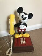 Vintage Disney Rare Micky Mouse Land Line Telephone Phone In Good Working Order