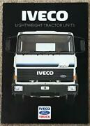 Iveco Ford Lightweight Tractor Units Commercial Sales Brochure 1986 86/323
