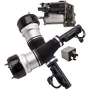 Pair Front Air Suspension Spring Electronic Strut And Compressor For Mercedes W221