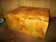 Extra-large Solid Amboyna Wood Burl Ercolano Jewelry And Watch Box Sorrento, Italy