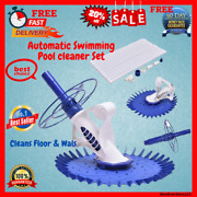 Automatic Inground Swimming Pool Vacuum Cleaner Set With Hose And Head Parts Kit