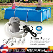 300 Gallon Electric Filter Pump With Hose Filter Element For Swimming Pool Us