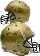 College Footballand039s Best Signed Vegas Gold Authentic Helmet With 22 Signatures