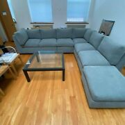 In Excellent Condition - Vintage Gray Sectional Couch From Workbench