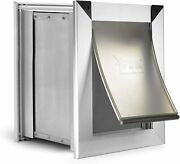 Extreme Dual Flap -wall Mount Tunnel Aluminum Dog/cat Door - Small To X-large