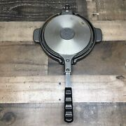 Vintage Jotul Nr 6 Cast Iron Heart-shaped Waffle Maker Iron Made In Norway.