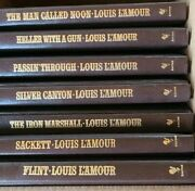 Lot Of 7 Louis Land039amour Leather Leatherette Western Books