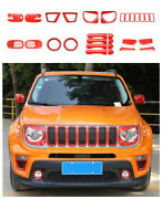 Red Abs Car Exterior Kit Cover Trim Accessories 29pc For 2019-2021 Jeep Renegade