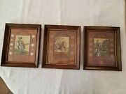 Vintage Framed Wall Hanging Coin Set Pony Express, American Indian, Forty Niners