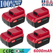 4 18v 6.0ah For Porter Cable Lithium Battery Pc18b Pc18bl Pc18blx Cordless Tool
