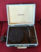 Crosley Classic Cr8005a-tu Turntable Suitcase Record Player Turquoise Blue