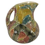 Shearwater Pottery 2011 Women And Dragonfly Pitcher Patricia Findeisen