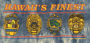 Hawaii's Finest T-shirt Sz Large State Of Hawaii Police Department Badges