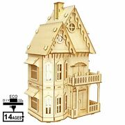 Diy Wooden Model Kits Mechanical Gothic Villa 3d Puzzle Toy For Adult Teens Gift