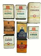 Lot Of 8 Vintage Spice Tins Ann Page Astor Sauerand039s