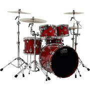 Dw Performance Series 5-piece Shell Pack Candy Apple Lacquer Chrome Hardware Ln