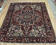 9and03910x12and0396 Vintage Bakhtiar Large Area Rugfloral Design Antiquehandmade Wool