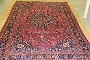 10and0392x16and0397 Vintage Large Area Rug Floral Design Antique Handmade Wool