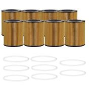 Wix Set Of 8 Engine Motor Oil Filters For Ford Land Rover Volvo Gas