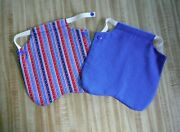 2 Chicken Saddle Hen Apron Poultry Chicken Vest Back Protector Snap Large 8x8
