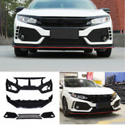 Fit For Honda Civic Type-r 2016-2021 Primer Front Skid Plate Bumper Board Guard