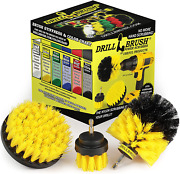 Drill Brush Attachment Power Scrubber Cleaning Kit Carpet Tile Bathroom Cleaner