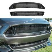 For Ford Mustang 2015-2017 Gt5.0 Dry Carbon Fiber Front Bumper Grill Grille Mesh