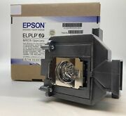 Original Epson Uhe Elplp69 Lamp And Housing For Epson Projectors - 1 Year Warranty