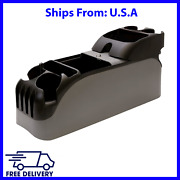 Center Car Console Bin Organizer Truck Cup Holder With Lockable Compartment Grey
