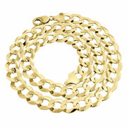 Real 10k Yellow Gold Chiseled 13mm Curb Cuban Link Style Chain Necklace 20-30