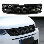 Front Upper Bumper Mesh Grill Grille 1pc Fit For Discovery Sport 2020-2021 Black