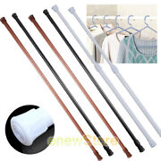 2x Adjustable Shower Curtain Rod 23-43 Spring Tension Curtain Rods For Bathroom