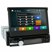 7 Single 1din Car Radio Player Flip Up Stereo Bluetooth Touch Screen Dvd Cd Bt