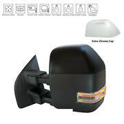 Chrome / Unpainted Driver Side Door Mirror With Blind Spot Indicator 128-05032bl