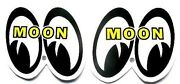5 Sets Mooneyes Decals Only 1/2 Tall Hot Rat Rod Stickers Drag Race Muscle Car